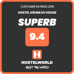 HostelWorld rates Hostel Krumlov House superb